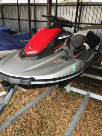 A personal water craft (PWC) is a recreational watercraft that the rider sits or stands on, rather than inside of, as in a boat.  This version accommodates only 2 people.